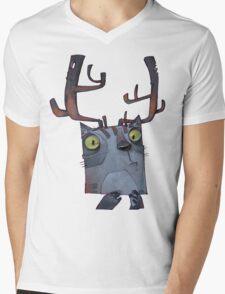 Cattle Mens V-Neck T-Shirt