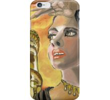 A bright eyed lady with a far vision iPhone Case/Skin