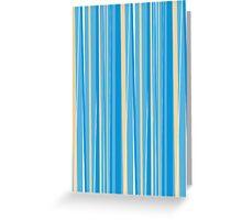 Fresh Blue Stripe Greeting Card
