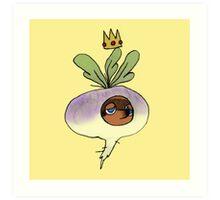 The Turnip King Art Print