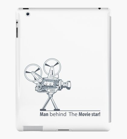 man behind the movie star iPad Case/Skin