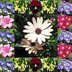 Bright and Beautiful - Floral Collage by BlueMoonRose