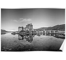 Eilean Donan Castle Black and White Poster