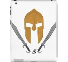 Spartan helmet swords 2 iPad Case/Skin