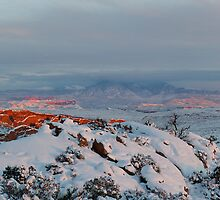 La Sal Mountain From Fiery Furnace by Mike Herdering