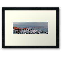 La Sal Mountain From Fiery Furnace Framed Print