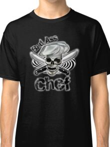 Bad Ass Chef with Knives and Spiral Classic T-Shirt