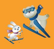 Sochi Mascots Skiing by mvettese