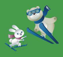 Sochi Mascots Skiing Kids Clothes