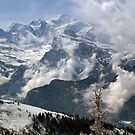 Dramatic view of Mont Blanc  by John Gaffen