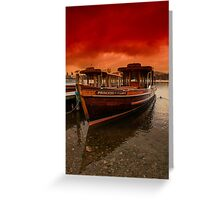 lake Windermere Boat Greeting Card