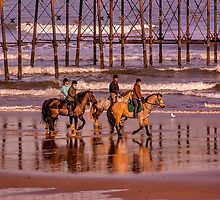 Morning Ride Saltburn by Trevor Kersley