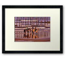 Morning Ride Saltburn Framed Print