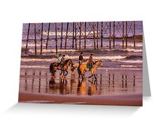 Morning Ride Saltburn Greeting Card