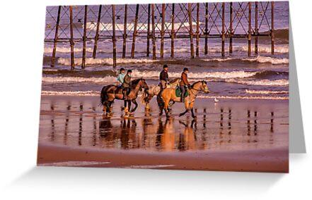 Morning Ride Saltburn by Trevor Kersley