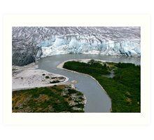 Glacial Rivers Art Print