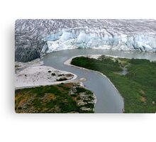 Glacial Rivers Metal Print