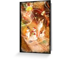 Moire and Mr. and Mrs. Snowman Greeting Card