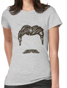 Manly face features T-Shirt Womens Fitted T-Shirt