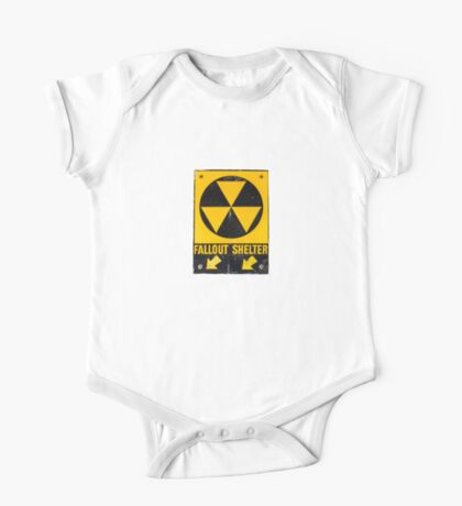 Fallout Shelter Sign  One Piece - Short Sleeve