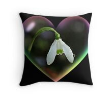 A Snowdrop Stole my Heart ! Throw Pillow