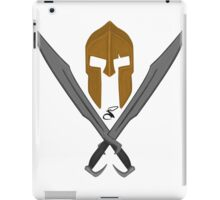 Spartan helmet swords 4 iPad Case/Skin