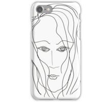 Abstract sketch of face VI iPhone Case/Skin