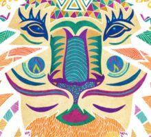 Whimsical Tribal Lion  Sticker