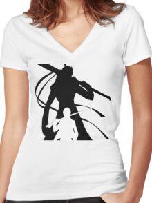 Persona 4 Yu & Izanagi - Light Version Women's Fitted V-Neck T-Shirt