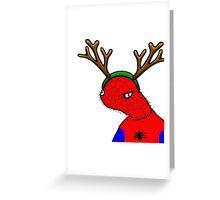 Spodermen Reindeer Greeting Card
