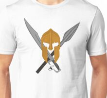 Spartan helmet sword and spear Unisex T-Shirt