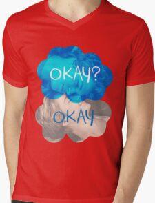 Okay? Okay Mens V-Neck T-Shirt