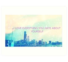 love everything.  Art Print