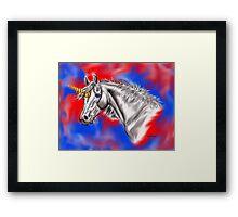 Digital Unicorn  Framed Print