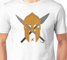 Spartan helmet sword and spear 2 Unisex T-Shirt