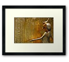 Golden Goddess Serket Framed Print