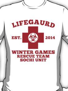 Sochi Winter Games Lifeguard Bio Hazard  Rescue Team  T-Shirt