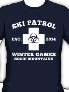 Sochi Winter Games Bio Hazard Ski Patrol T Shirt T-Shirt