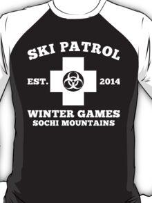 Sochi Winter Games Bio Hazard Ski Patrol T-Shirt T-Shirt