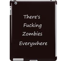 Zombies Everywhere white iPad Case/Skin