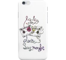 La La Love U iPhone Case/Skin