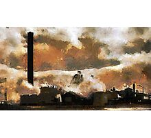 The Steelworks, Port Talbot, Wales Photographic Print