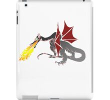 Dragon Breathing Fire in color blocks iPad Case/Skin