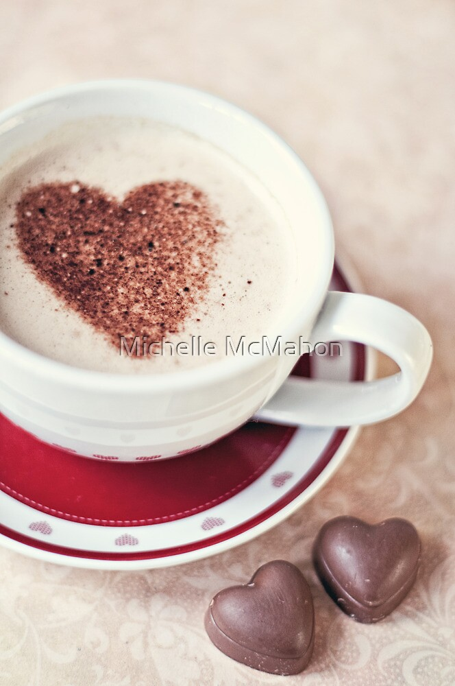 cappuccino and chocs by Michelle McMahon