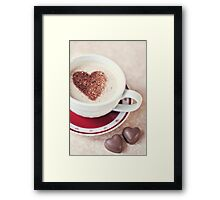 cappuccino and chocs Framed Print