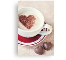 cappuccino and chocs Canvas Print