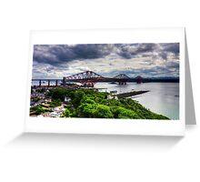 The Bridge under Cloudy Skies Greeting Card