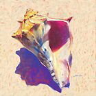 Conch Shell - Seashell Coastal Art by Mike Savlen