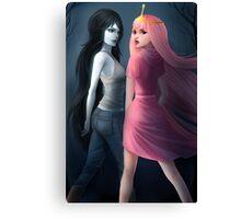 Marceline and Princess Bubblegum Canvas Print