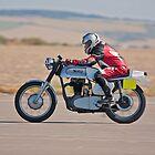 Norton motorcycle drag racing by Martyn Franklin